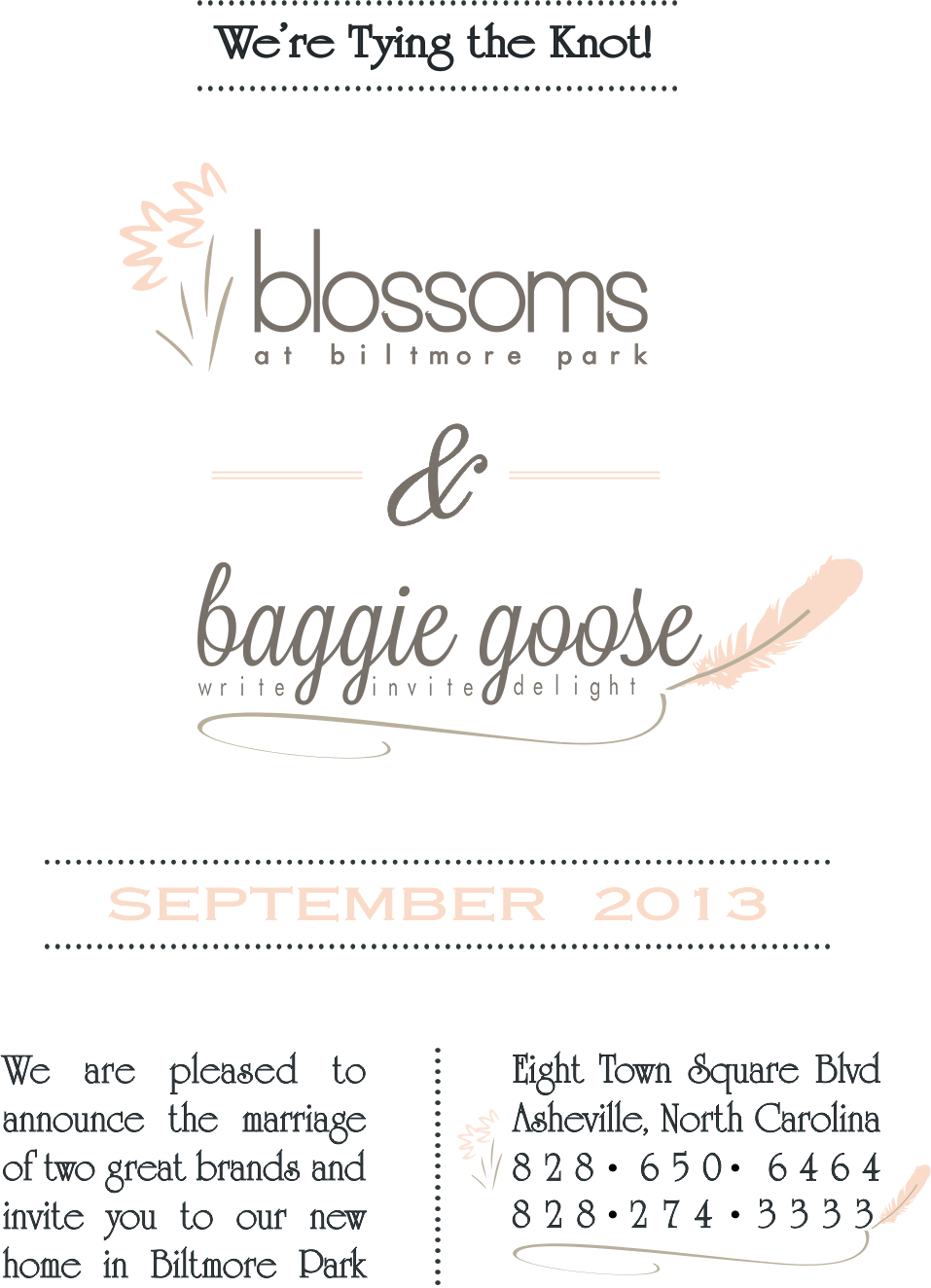 Blossoms & Baggie Goose